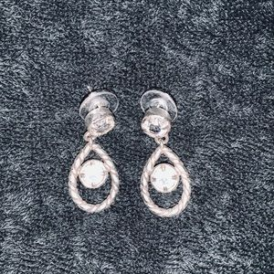 Brighton Clear/CZ Pear Shaped earrings
